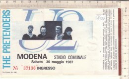 PO8358D# BIGLIETTO CONCERTO U2 THE PRETENDERS - MODENA STADIO DELLE ALPI 1987 - Biglietti Per Concerti