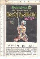 PO8361D# BIGLIETTO CONCERTO IRON MAIDEN SOMEWHERE ON TOUR 86/87 - Concert Tickets