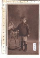 PO8624D# FOTOGRAFICA MARCHETTI TORINO - BAMBINI - CAVALLO A DONDOLO - ROCKING HORSE TOYS  No VG - Ritratti
