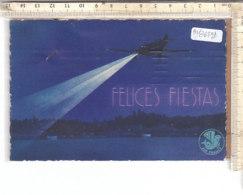 PO8649D# AUGURALE ANNO NUOVO - IST. ARGENTINO CULTURA ITALICA - AVIAZIONE - AEREI AIR FRANCE  VG 1935 - Nouvel An