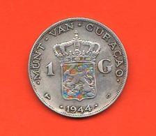 1 One Gulden Curaçao 1944 D Koningin Wilhelmina Netherlands Antilles - Curacao