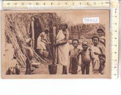 PO8702D# AFRICA ORIENTALE - COLONIE - SOMALIA - DONNE BAMBINI INDIGENI - BATTITURA DELLA DURA  VG - Somalia