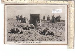 PO8703D# AFRICA ORIENTALE - COLONIE - LIBIA - PREGHIERA NEL DESERTO - FOTOGRAFO COMINI  VG 1933 - Libia
