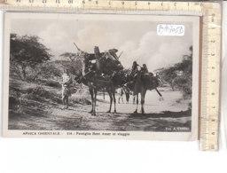PO8705D# AFRICA ORIENTALE - COLONIE - ERITREA - FAMIGLIA BENI AMER IN VIAGGIO - FOTOGRAFO COMINI  VG 1936 - Eritrea