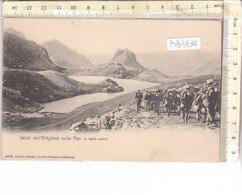 PO8727D# GUERRA - MILITARI - SALUTI DELL'ARTIGLIERE SULLE ALPI  No VG - War 1914-18