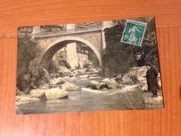 TOURETTE SUR LOUP-  Pont Du Loup Et Usine électrique CARTE COLORISEE (port à ;ma Charge ) - Francia