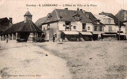 LUBERSAC L HOTEL DE VILLE ET LA PLACE - France
