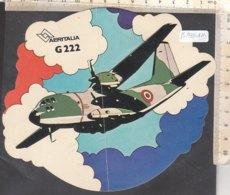 PO8841D# ADESIVO STICKER AVIAZIONE - AERITALIA G 222 - AEREI - Stickers