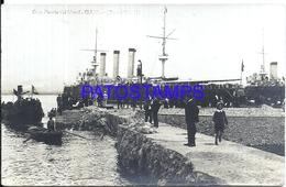 116255 SPAIN ESPAÑA GIJON ASTURIAS GRAN PUERTO PORT DEL MUSEL SHIP POSTAL POSTCARD - Espagne