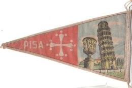 PO8922D# BANDIERINA SOUVENIR IN TELA Anni '50 - PISA - Pubblicitari