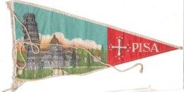 PO8923D# BANDIERINA SOUVENIR IN TELA Anni '50 - PISA - Pubblicitari