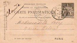 96Hs  Précurseur Carte Pneumatique Paris Pour Paris En 1893 Préoblitérée - Other