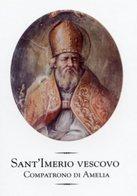 Santino Grande SANT'IMERIO VESCOVO Compratono Di Amelia - PERFETTO R14- - Religion & Esotericism
