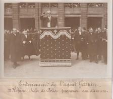 ENTERREMENT L'AGENT GARNIER M LÉPINE PRÉFET DE POLICE DISCOURS 18*13CM Maurice-Louis BRANGER PARÍS (1874-1950) - Personalidades Famosas
