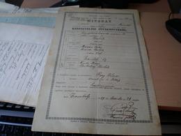 Zsombolya Kivonat Keresztelesi Anyakonyvbol 1899  Tax Stamps 10+10+10 Filler - Historical Documents