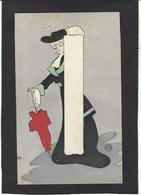 CPA Art Nouveau Femme Girl Woman érotisme Non Circulé PL Paris - Women