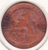 Pays-Bas, 1 Cent 1901, WILHELMINA I. Bronze. KM# 130 - [ 3] 1815-… : Royaume Des Pays-Bas