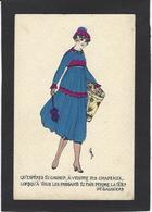 CPA Mode Chapeau Femme Girl Woman écrite - Women