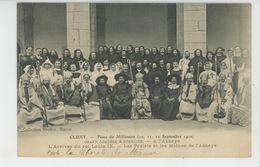 CLUNY - Fêtes Du Millénaire - Sept. 1910 - Grand Cortège Historique à L'Abbaye - L'Arrivée Du Roi Louis IX - Cluny
