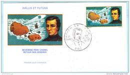 WALLIS UND FUTUNA - FDC - 284 Pierre Chanel Missionar - Landkarte (24974) - FDC
