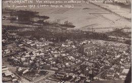 SAINT - FLORENTIN : Vue Oblique Prise En Avion Par Le S/lieutenant Pilote Planson . 05/01/1917 ; CP Photo . - Saint Florentin