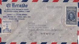 1940 VENEZUELA COMMERCIAL COVER-EL HERALDO. CIRCULEE TO ARGENTINE, BANDELETA PARLANTE- BLEUP - Venezuela