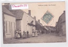 18-NANCAY (Cher)- Rue Principale- Animation-Edit. Borré-Ecrite-Timbrée- - Nançay