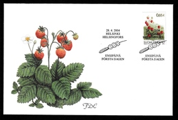FINLAND 2004 Wild Strawberry: First Day Cover CANCELLED - FDC