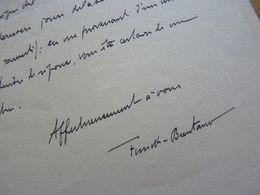 Franz FUNCK BRENTANO (1862-1947) Historien. BIBLIOTHEQUE Arsenal. - AUTOGRAPHE - Autographes