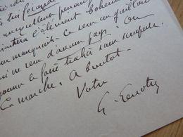 Théodore Gosselin Dit LENOTRE (1855-1935) Historien. Académie Française - AUTOGRAPHE - Autographs