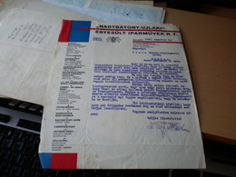 Nagybatony Ujlaki Egyesult Iparmuvek R T Budapest 1943 - Facturas & Documentos Mercantiles