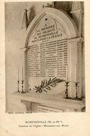 REMENOVILLE - Intérieur De L'église Monument Aux Morts - France