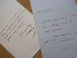 Jean Baptiste CAPEFIGUE (1798-1872) HISTORIEN & Journaliste ROYALISTE . 2 X AUTOGRAPHE - Autographes