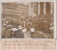 PARIS PLACE DE LA BOURSE CONCOURS MUSICAL 18*13CM Maurice-Louis BRANGER PARÍS (1874-1950) - Lieux