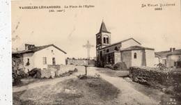 VAZEILLES-LIMANDRE LA PLACE DE L'EGLISE (FAUTE D'ORTHOGRAPHE EN LEGENDE) LEMANDRES - France