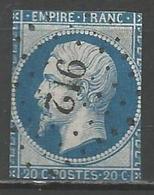 FRANCE - Oblitération Petits Chiffres LP 912 COLOMBEY-LES-BELLES (Meurthe & Moselle) - 1849-1876: Classic Period