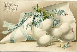 Carte Gaufrée - Joyeuses Paques - Pâques