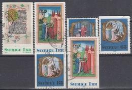 SUECIA 1976 Nº 946/949 + 946a + 948a USADO - Gebraucht
