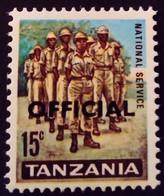 Tanzanie Tanzania 1965 Armée Army Surchargé Overprinted OFFICIAL Service Yvert S3 * MH - Tanzania (1964-...)