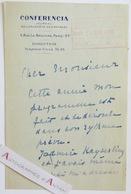 L.A.S 1935 Yvonne SARCEY (Madeleine BRISSON) Conferencia - Née à Counslatt - Keyserling - Lettre Autographe - Autographes