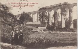 Manche : FERMANVILLE , Vallée  Des  Moulins ,le  Viaduc - Train ( Destinée à Gand ) - France