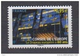 2015-N°163** LE DRAPEAU EUROPEEN A 60 ANS - Service