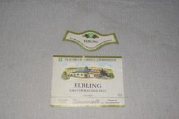 Elbing Grevenmacher Fels Vin Moselle Luxembourgeoise + Collerette - Labels