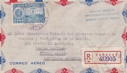 1940'S VENEZUELA AIRMAIL COVER. CIRCULEE TO ARGENTINE, REGISTERED- BLEUP - Venezuela