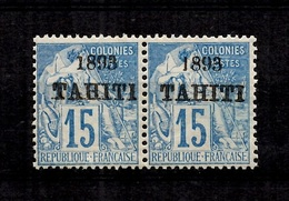Tahiti YT N° 24 En Paire Neufs ** MNH. TB. A Saisir! - Tahiti (1882-1915)