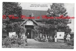CHATILLON SUR SEINE STAND DU 58 EME TERRITORIAL - AMBULANTS - COTE D OR - ARBASSIER CAFE MONTOT - CPA - Chatillon Sur Seine