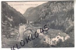 73 LE CHATELARD ( Savoie ) - Frontière Franco - Suisse - Vue Plongeante Sur La Gare Et La Vallée - CPA Pittier N° 2222 - Le Chatelard