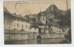 SAINT RAMBERT EN BUGEY - L'Eglise Et Les Ruines Du Château De Cornillon - Autres Communes