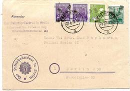 SH0019. N° 167(2)-169-172 BERLIN NO 55 - 25.8.48 S/Lettre V. Berlin - Cach. Der Polizeipräsident In Berlin. TB - Zone Soviétique