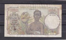Aof 100 Fr 1948  Vf - États D'Afrique De L'Ouest
